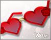n| M Heart Roses Glasses