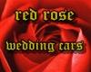 3 red rose wedding cars