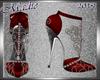 !a Loren's Red Silk Heel