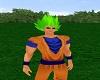 Goku God Hair Green