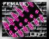 [GEL] Pink Spikes (L)