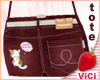 ! Vici-Denim Tote Red