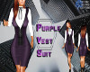 Purple Vest Suit VXL