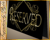 I~Reserved Table Card