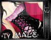*TY Ruff Satin corset pi