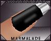 !mml Silver/black Nails