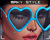 M:Blue love glasses
