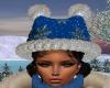 Blue Snowflake Kitty Hat