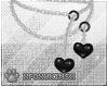 Black Hearts Necklace