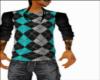 Teal Grey Sweater