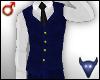 Classy blue vest (m)
