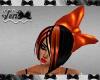 Orange PVC Hair Bow