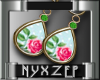 Rose Floral Earrings