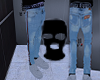 stripped jeans + ethika