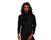 Winter coat black scarf