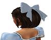 AB blue hair bow