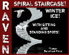 WINTER ICE SPIRAL STAIRS