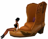 Western Boot Chair