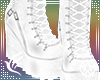White Goth Strap Boots