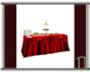 Red Buffet Table