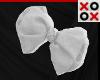 White Bow Hair Clip - R