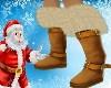 Gold Fur Winter Boots