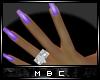 Violet Wedding Nail