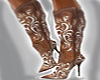 Cowgirl Brown High Boots