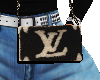 LV Fur Side Purse