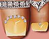 Feet Silver Rings Yellow