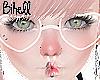 .:Heart Glasses White:.