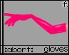 :a: Hot Pink PVC Gloves
