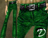 Belted Jeans (green)