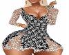 lace blk&white dress xxl