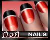*NoA*Nails Red/ Black