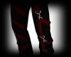 Goth Red/black Pants