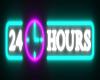 24 Hours Neon clock