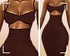 ṩKarla Dress Brown rll