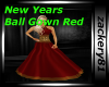 New Years Ball Gown Red