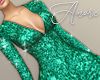$ Sequin Green Dress