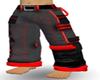 red/black cargos pants