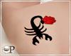 Scorpio & Rose Tattoo