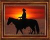Sunset Cowboy Painting