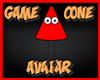 Game Cone Avatar Red