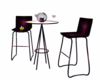 bar tables purple
