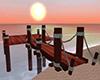 Romantic wedding dock
