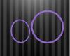 Hoop Earrings - Purple