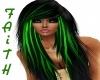 Black W/Green Highlites