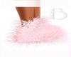 Icy Pink l Fuzzy Boots