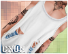 Ripped Tank | White